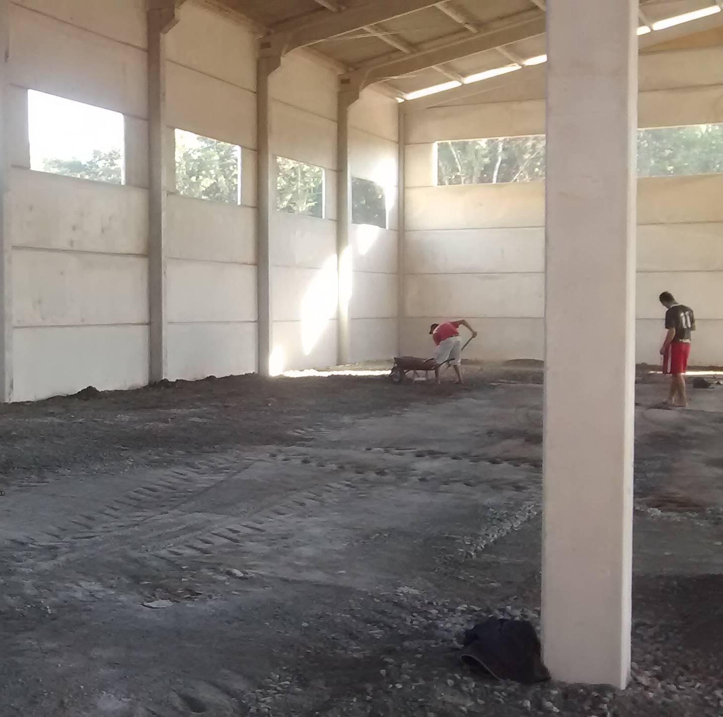 Nivelamento de piso para galpão